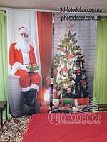 Фото Шторы Дед Мороз с подарками. Материал Габардин.