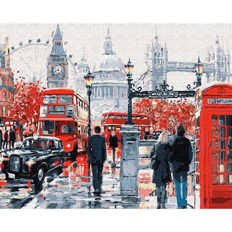Картина раскраска по номерам на холсте - 40*50см BrushMe GX8362 Прогулка по Лондону 2