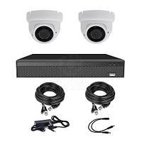 Комплект відеоспостереження на 2 камери CoVi Security AHD-2D 5MP PRO KIT