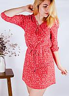 Красное платье в стиле бохо H&M, размер XS/S, арт. 0883