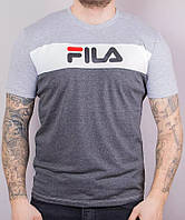 "Мужская футболка ""Fila"" (антрацит). Арт.: FutM002"
