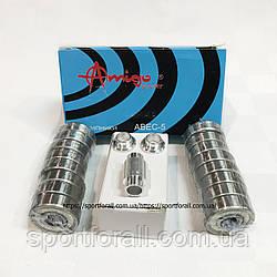 Подшипники  для роликовых коньков с втулками 16шт. (ABEC-5)