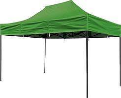 Раздвижной шатер Стандарт зеленый 300х300 - 4 уровня высоты