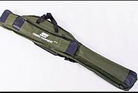 Чехол EOS (зеленый) для спиннингов с катушками. Длина 130см.