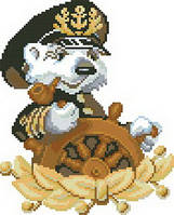 Картина для вышивки крестиком размер А4 Капитан Ркан 4021