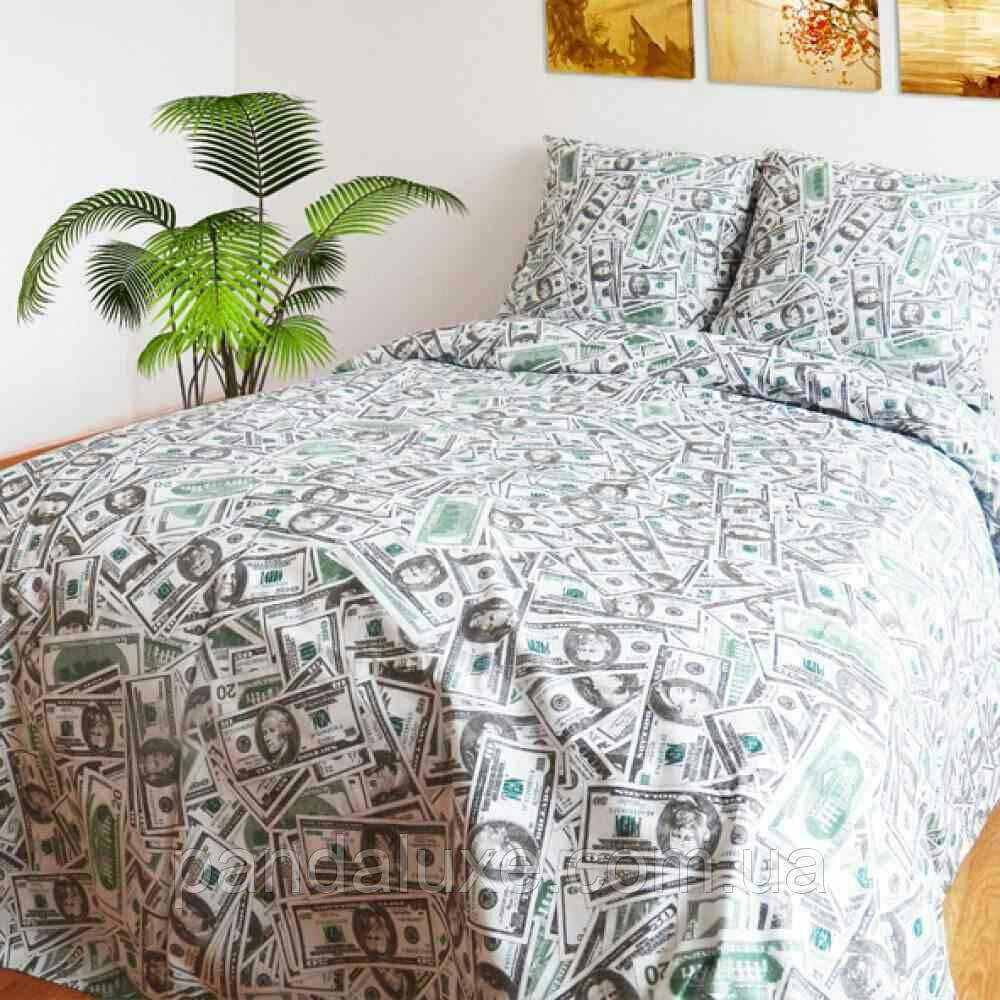 Постельное белье бязь голд, красивый двуспальный комплект Доллары
