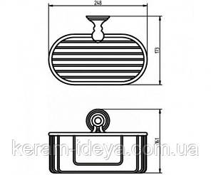 Полка-корзинка для ванной Haceka Allure 25 1126187, фото 2