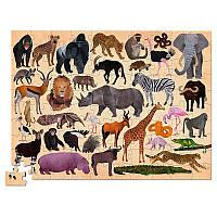 Пазл для детей Crocodile Creec «Дикие животные» (100 деталей)