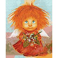 Картина раскраска по номерам на холсте - 40*50см BrushMe GX29593 Солнечный ангел