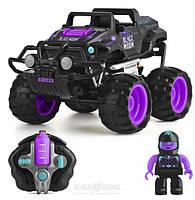 Автомобиль Monster Smash-Ups Crash Car на р/у Черная вдова фиолетово-черный, аккум. 4.8V, фото 1
