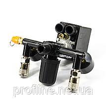 Прессостат в сборе (прессостат, редуктор, 2 манометра, предохранительный клапан, два выхода) Profline 20E, фото 2