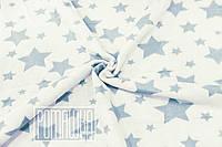 Плотный 100х90 хлопковый байковый флисовый детский плед одеяло для новорожденных детей в коляску 4837 Синий