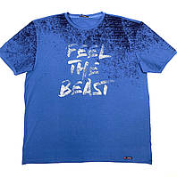 Футболка мужская с надписью Feel the beast