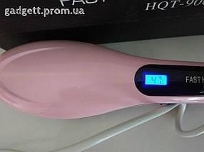 Электрическая расческа выпрямитель FAST HAIR STRAIGHTENER HQT-906, выпрямитель, укладка для волос!, фото 3