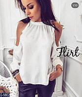 Блуза женская,блузка красивая, женская блуза.Женская блузка с открытыми плечами, фото 1