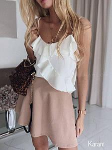 Женский летний комплект юбка и майка на тонких бретелях 42-44 р