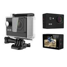 Экшн камера A7 FullHD + аквабокс + Регистратор Полный компект+крепление шлем ЧЕРНАЯ, фото 2
