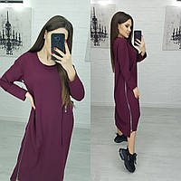 Платье макси оверсайз N174 марсала/ вишневый/ фиолетовый/ бордо, фото 1