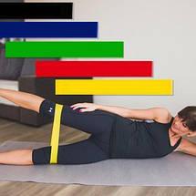 Набор фитнес-резинок 5шт+мешочек для хранения! Эспандер, тренажер., фото 3