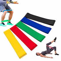 Набор фитнес-резинок 5шт+мешочек для хранения! Эспандер, тренажер., фото 2