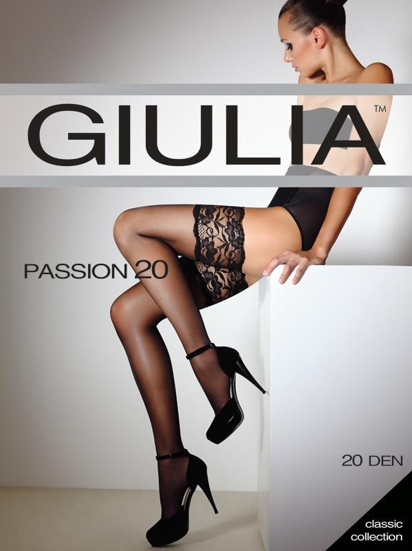 Чулки женские, эксклюзив PASSION 20 ден, разные цвета - Giulia-opt - колготки и чулки оптом в Хмельницком
