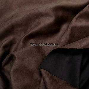 Замша стрейч на дайвинге коричневая