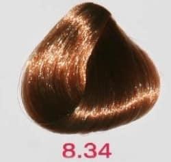 Краска без аммиака 8.34 Nouvelle Lively Hair Color Медно-золотистый светлый блонд 100 мл