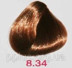 Краска без аммиака 8.34 Nouvelle Lively Hair Color Медно-золотистый светлый блонд 100 мл, фото 2