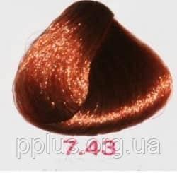 Краска без аммиака 7.43 Nouvelle Lively Hair Color Золотисто-медный блонд 100 мл, фото 2