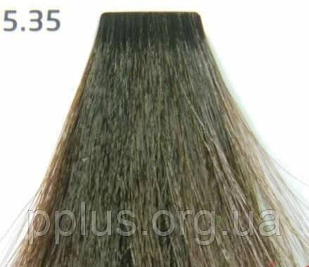Краска для волос 5.35 Nouvelle Smart Светло-коричневый золотистый махагон 60 мл, фото 2