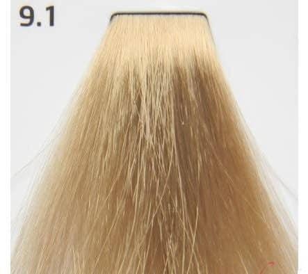 Краска для волос 9.1 Nouvelle Smart Очень светлый пепельный блондин 60 мл, фото 2