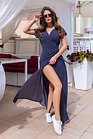 Сарафан жіночий 1127 (42 44 46 48) (кольори: синій, чорний, пудра, блакитний,м'ята) СП, фото 1