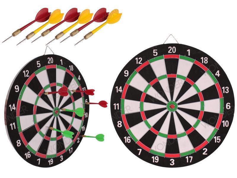 """Дартс двухсторонний из прессованной бумаги Dart Game (роз. 12"""") 17"""""""