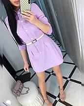Летнее женское плтье выше колена с рукавами и поясом  / 42-44, разные цвета, ft-484, фото 3