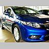 Молдинги на двері для Honda Civic Mk9 4Dr sedan 2011-2014