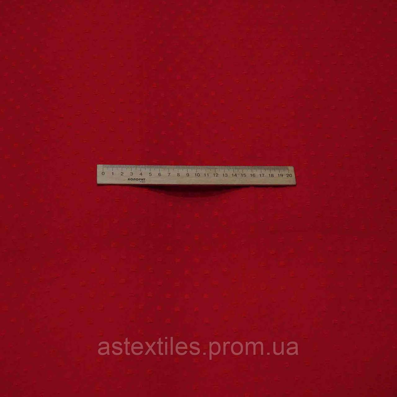 Шифон з вишитими квадратиками (червоний)