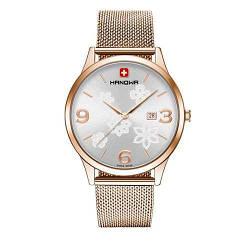"""Часы наручные женские Hanowa 16-3085.09.001 кварцевые, """"миланский"""" браслет, Швейцария"""