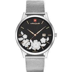 """Часы наручные женские Hanowa 16-3086.04.007 кварцевые, """"миланский"""" браслет, Швейцария"""