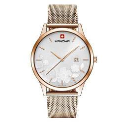 """Часы наручные женские Hanowa 16-3086.09.001 кварцевые, """"миланский"""" браслет, Швейцария"""