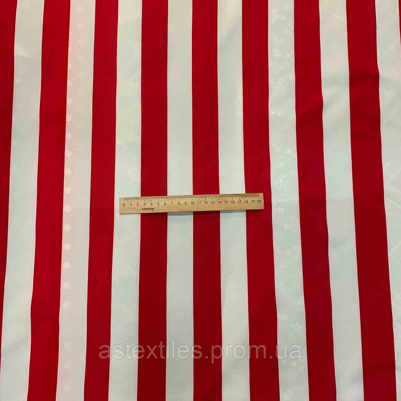 Супер софт принт (червона і біла широка смуга)