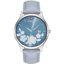 Часы наручные женские Hanowa 16-4086.04.003 кварцевые, серый ремешок из кожи, Швейцария