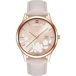 Часы наручные женские  Hanowa 16-4086.09.005 кварцевые, бежевый ремешок из кожи, Швейцария