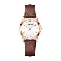 Часы наручные женские Hanowa 16-6042.09.001 кварцевые, коричневый ремешок из кожи, Швейцария