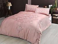 Комплект постельного белья из Сатина двуспальное евро TAC Bruna Pink