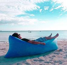 Надувной матрас Ламзак, Lamzak, шезлонг, гамак, надувной диван, надувное кресло ГОЛУБОЙ, фото 3