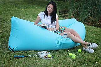 Надувной матрас Ламзак, Lamzak, шезлонг, гамак, надувной диван, надувное кресло ГОЛУБОЙ, фото 2