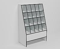 Витрина кондитерская торговая с ячейками и стеклянной витриной ЭК-16 (серия ЭК)