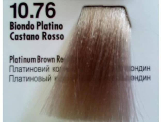 Краска для волос 10.76 Nouvelle Hair Color Платиновый коричнево-красный 100 мл, фото 2
