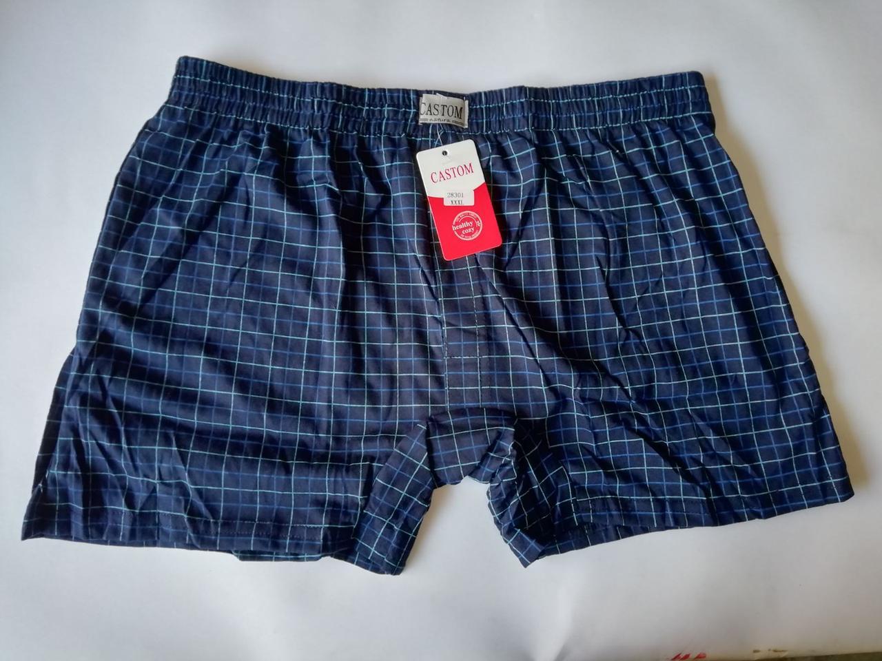 Мужские шорты (семейные трусы батал 5,6,7) Марка «CASTOM» арт.58002