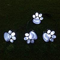 Грунтовой светильник на солнечной батарее лапки котика